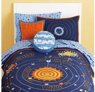 kids blue solar system bedding contemporary kids. Black Bedroom Furniture Sets. Home Design Ideas