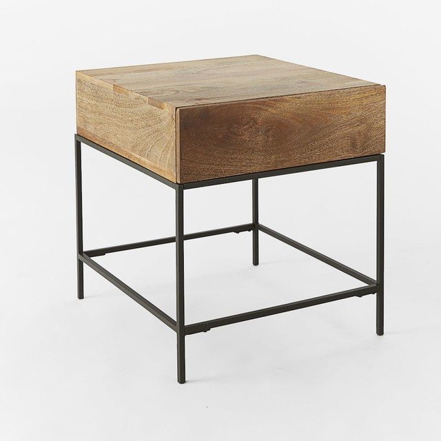 Rustic Storage Side Table Caf Modern Side Tables End Tables London By West Elm Uk