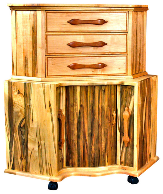 3 Drawer Corner Cabinet, Maple - Rustic - China Cabinets And Hutches - by Kinder Realm