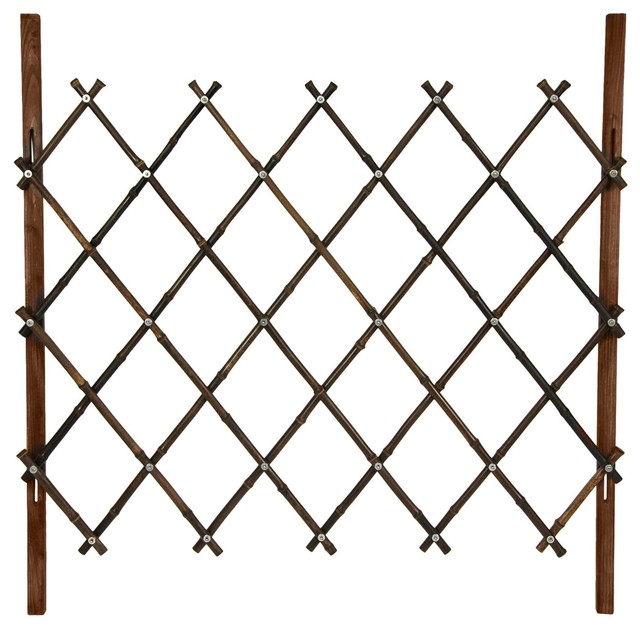 ft. Tall Diamond Bamboo Fence - Walnut - Asian - Home Fencing And ...
