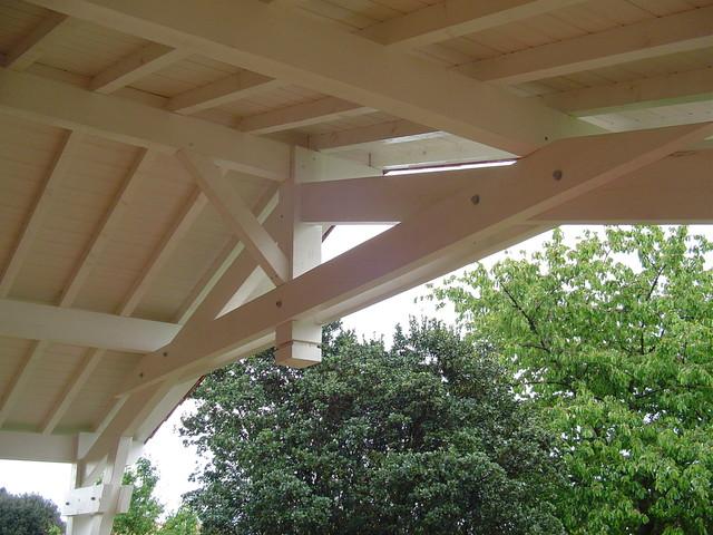 Terrasse couverte en bois moderne