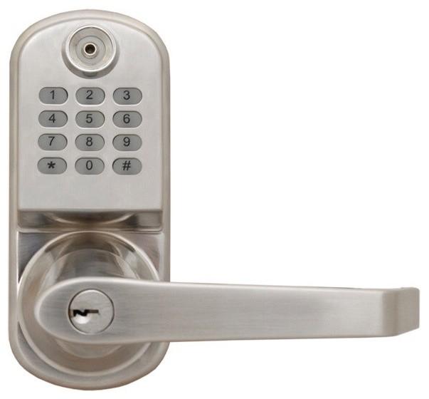 Electronic Lock Model Vdd-Rl2000Sl Satin Nickel Finish - Modern - Door ...