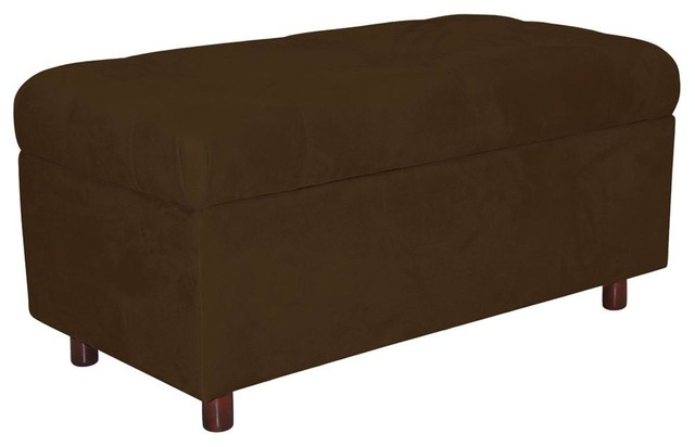 Upholstered Storage Entryway Bench: Tufted And Fully Upholstered Storage Bench