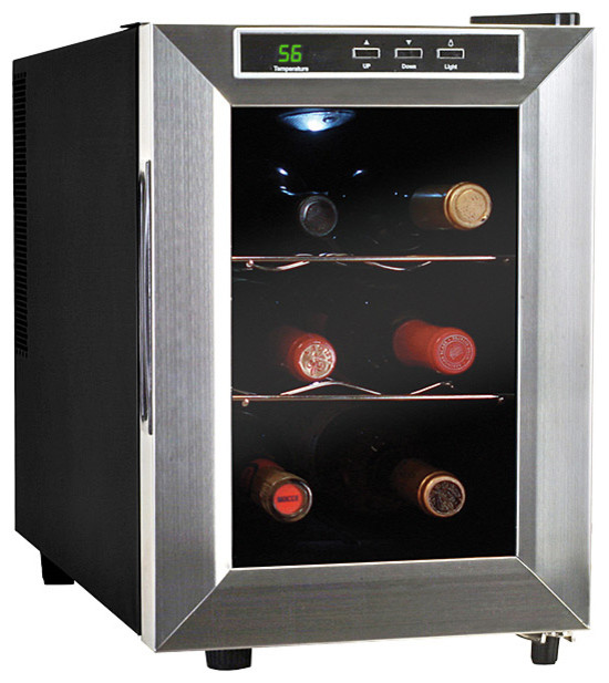 Vinotemp 6-Bottle Thermoelectric Wine Cooler - Modern - Beer And Wine Refrigerators