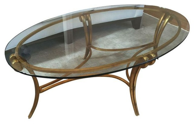 Barbara barry glass metal coffee table modern coffee tables by chairish Barbara barry coffee table