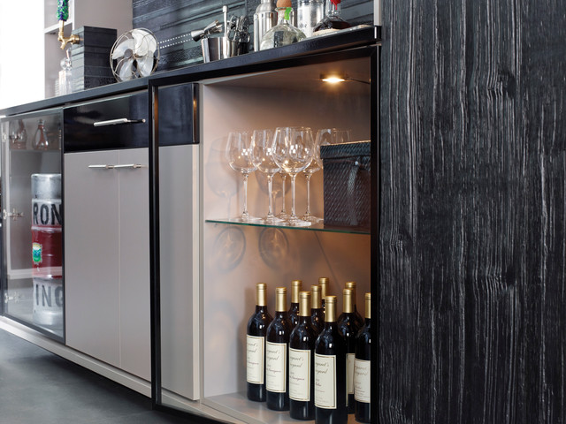 built in refrigerated wine storage and kegerator