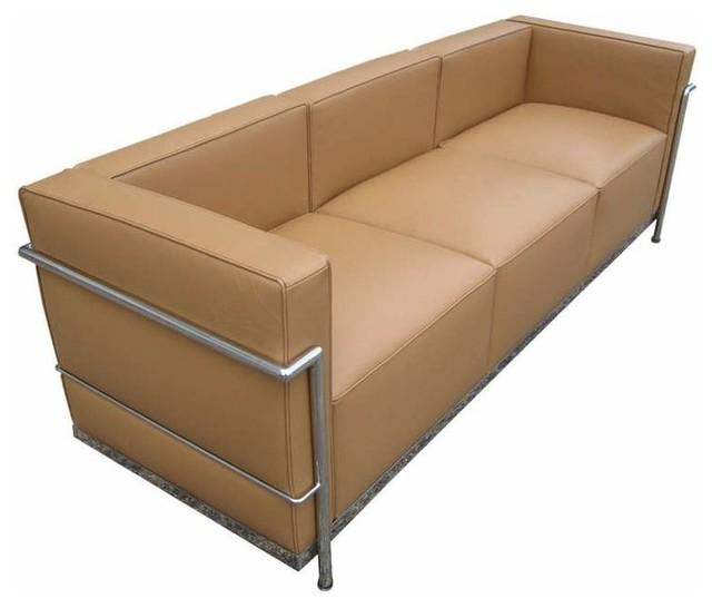 White Leather Sofas Montreal: Beige Le Corbusier LC2 Sofa