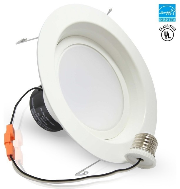 Led Ceiling Lights Daylight : W quot dimmable led recessed ceiling light daylight