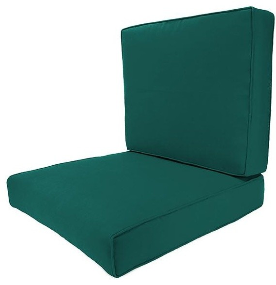 Deep Seating Box Edge Outdoor Chair Cushion Traditional
