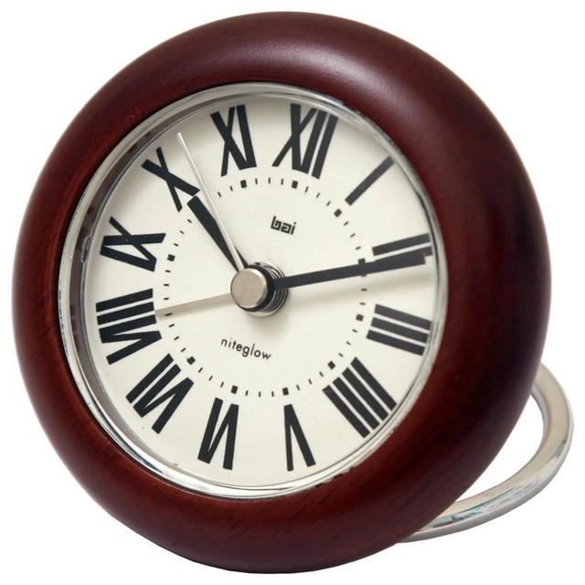 Rondo Wooden Travel Alarm Clock Roma Contemporary