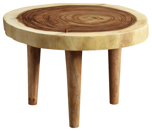 Suar 3 Legged Coffee Table Transitional Coffee Tables By Artemano