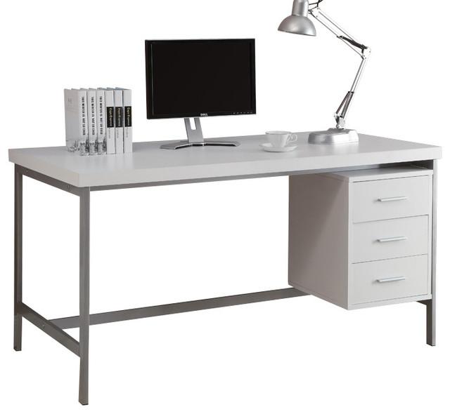 Monarch Specialties 7046 Office Desk In White