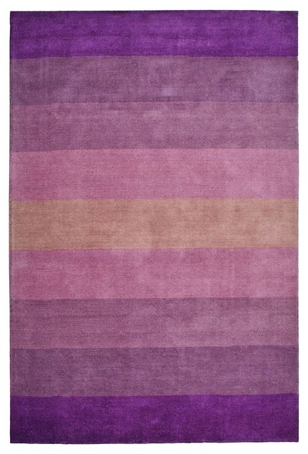 Striped aspect area rug purple 5 39 x8 39 contemporary for Purple area rugs contemporary