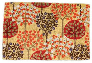 Harvest Tree Doormat Contemporary Doormats By Garnet