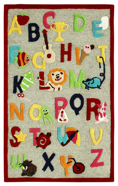 Cradle Alphabet Beige Rug Contemporary Kids Rugs By