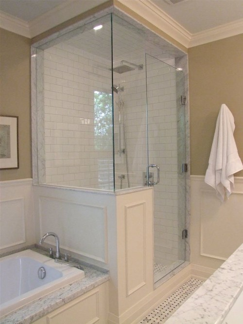 Shower Tub Combo Or Separate Soaking Tub