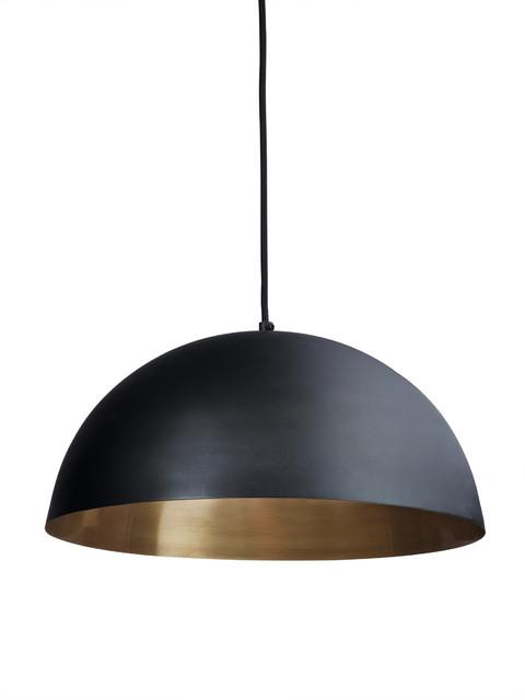 Black Amp Gold Pendant Lightshade