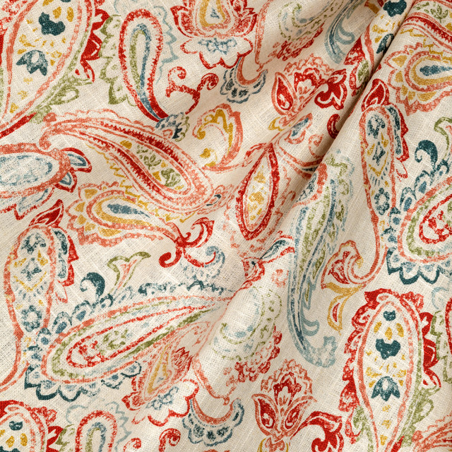 Play It Paisley Lobster Fabric New York By Loom Decor