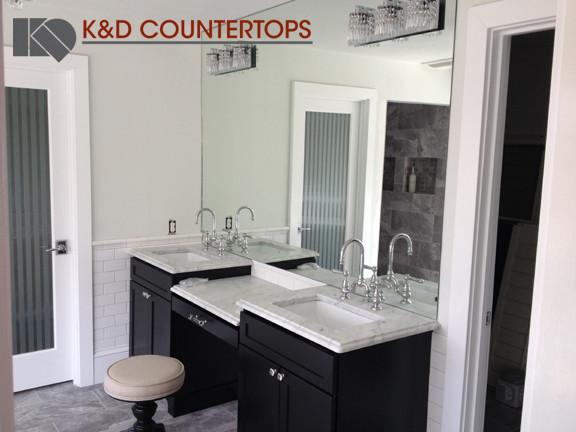 Carrara Marble Vanities traditional-bathroom