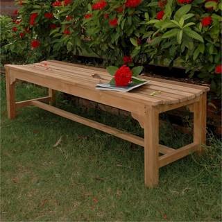 Anderson Teak Hampton 3 Person Teak Patio Backless Bench Modern Garden Be