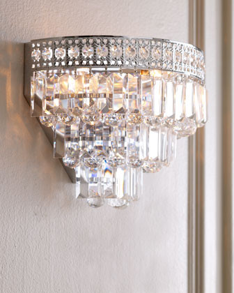 Wall Sconce Crystal Lighting : Crystal Wall Sconce - Traditional - Wall Sconces - by Horchow