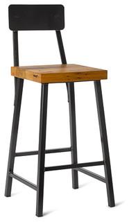 contemporary bar stools and counter
