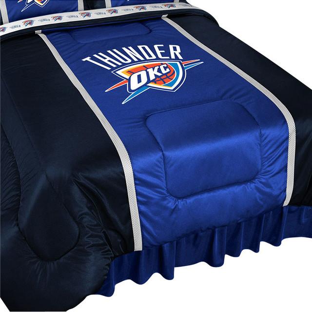 Okc Thunder Bedroom Decor: NBA Oklahoma City Thunder Bed Comforter Basketball Bedding