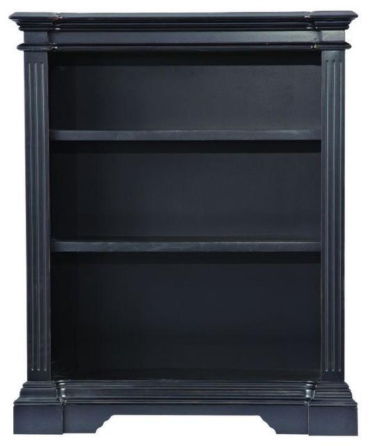 Bufford 3 Shelf Open Bookcase In Rubbed Black