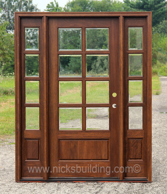 One Door Two Sidelights Chicago Di Nicks Building Supply