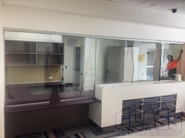 Logan Hospital Reception Screen Windows And Doors Gold