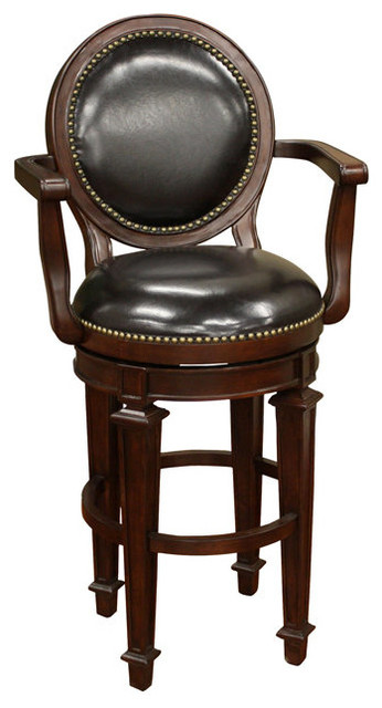 Barstow bar stool 30in traditional bar stools and - Traditional kitchen bar stools ...