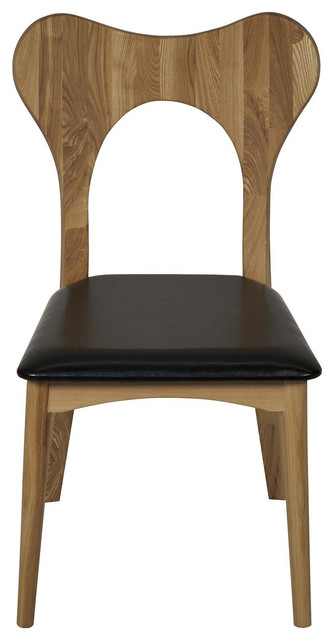 Noir Furniture Gina Chair Elm Leather Contemporary Dining Chairs By Greatfurnituredeal