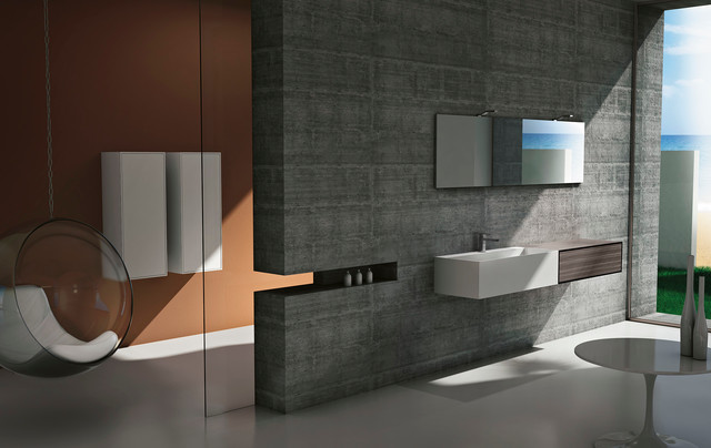 Modern Bathroom Vanities Cubik In San Diego Modern Bathroom San Diego By Italian Kitchen