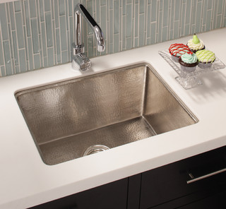 Cocina 24 Copper Kitchen Sink In Brushed Nickel By Native