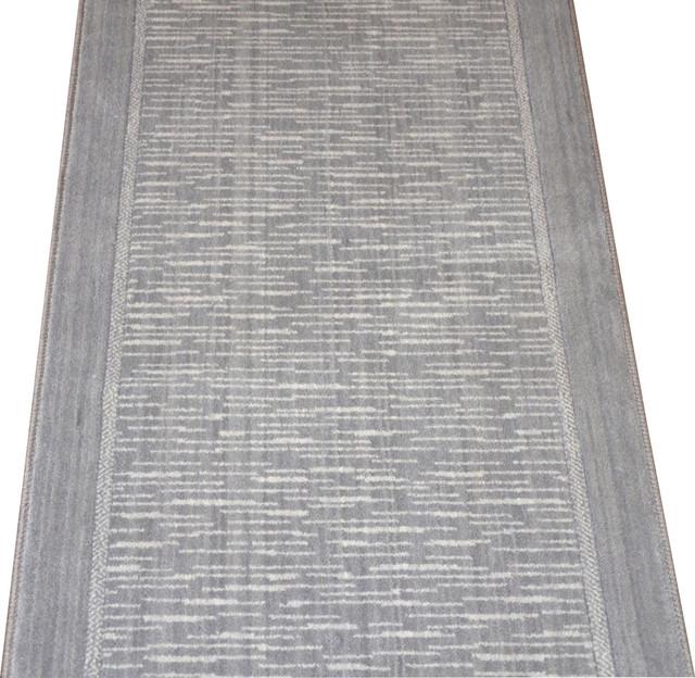 Wellington Armada Gray Wool Hall Or Stair Carpet Runner