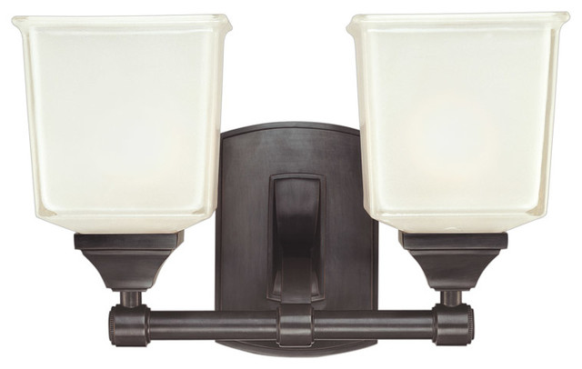 Hudson valley lighting 2242 ob lakeland 2 light bathroom for Traditional bathroom wall lights