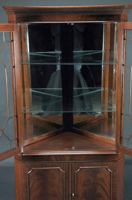 High End Mahogany Corner China Cabinet for Traditional Dining Room (K ...