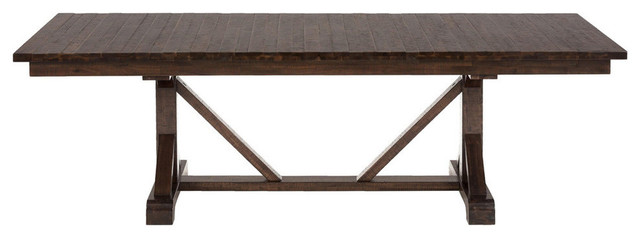 Jofran 733 96 Rustic Hewn Rectangle Fixed Top Dining Table