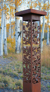 Decorative steel bollard lights - Contemporary - Outdoor Lighting - indianapolis - by Lite4 ...