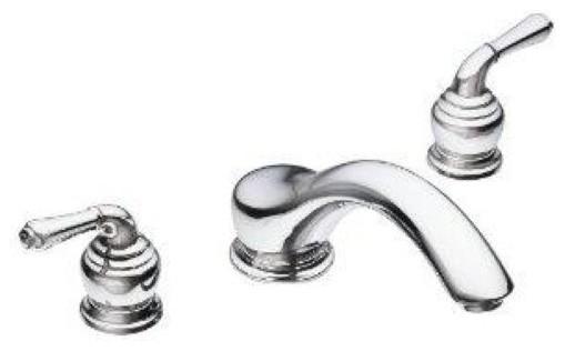 Moen Monticello 2 Handle Chrome Roman Tub Faucet 86950 Traditional Bathtub Faucets By