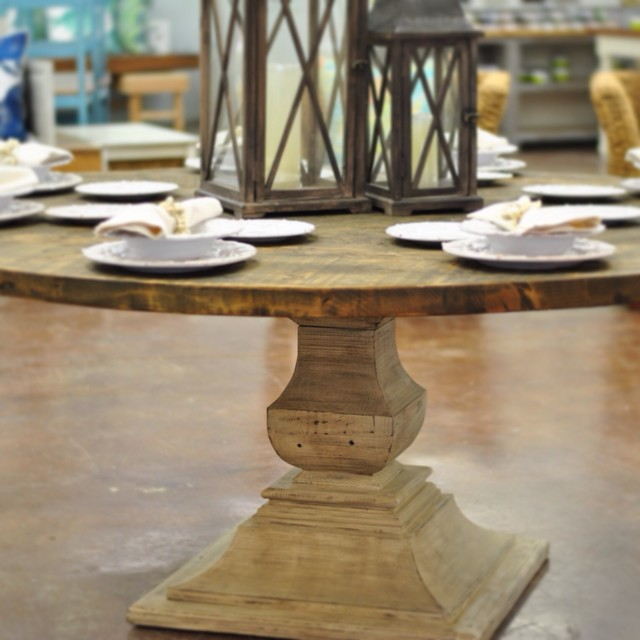 quotBellquot 72quot Round Reclaimed Wood Dining Table R250stico  : rustico mesas de comedor from www.houzz.es size 640 x 640 jpeg 69kB