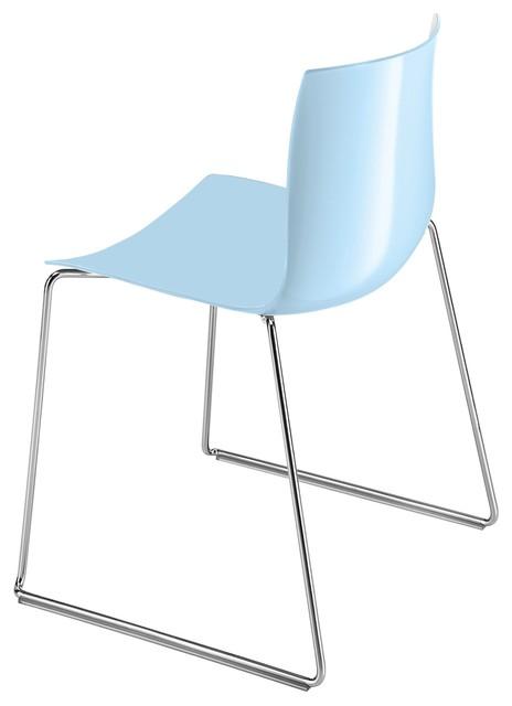 Catifa 46 Stuhl Mit Kufen Einfarbig Hellblau Bauhaus