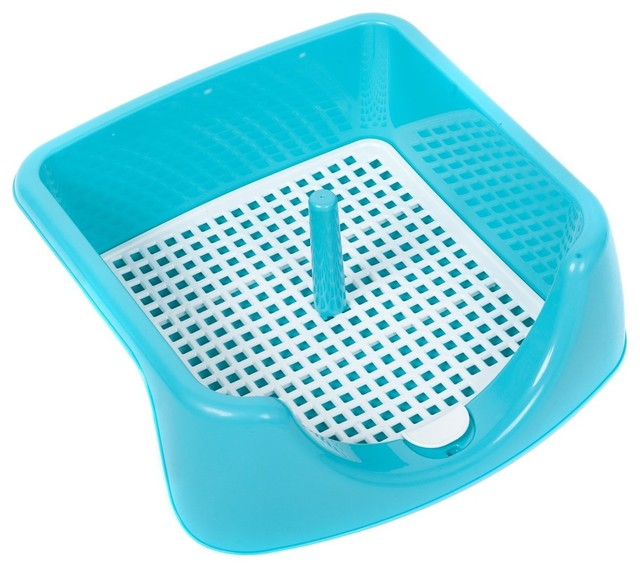 Favorite Plastic Puppy Training Pad Holder With Moveable Post - Transitional - Dog Supplies - by ...