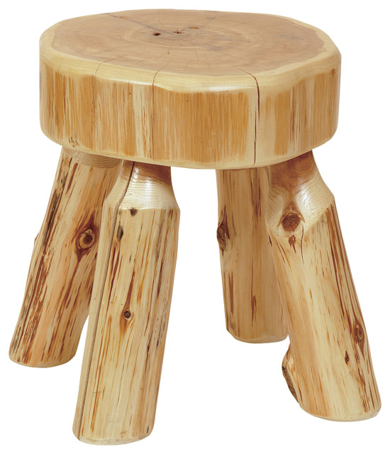 Cedar Stool Small Rustic Vanity Stools And Benches