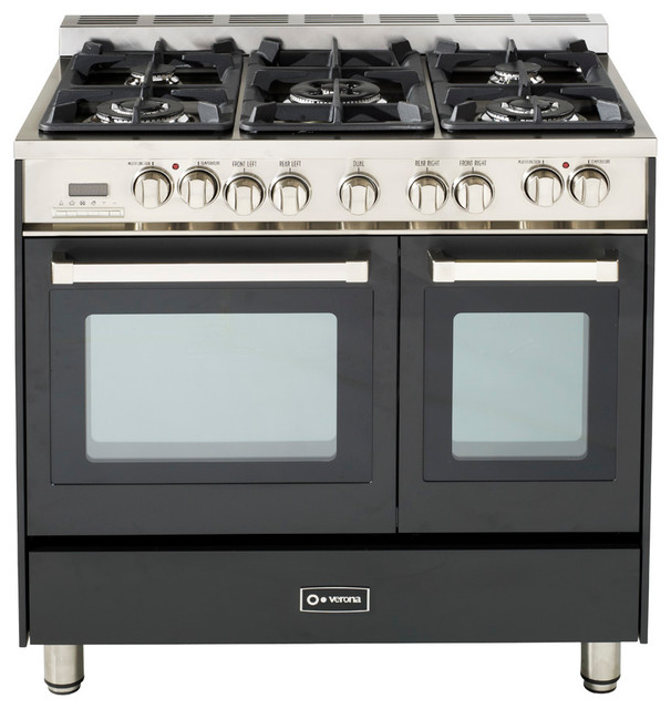 verona 36 double oven dual fuel range transitional