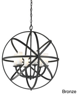 Aranya 6 Light Orbit Pendant