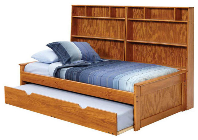 youth kids twin captain bed bookcase combo trundle drawers k