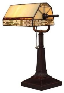 Hampton Bay Desk Lamps: Addison Banker's Lamp with CFL bulb 14823 - Contemporary - Desk Lamps