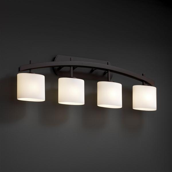 Justice design fsn 8594 30 opal dbrz fusioncollection - Lampade a parete per bagno ...