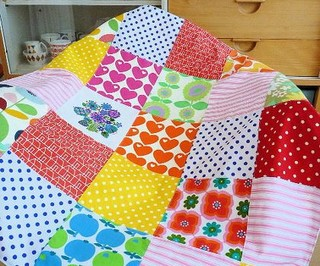 Vintage and retro fabric mini quilt contemporary kids for Modern kids fabric